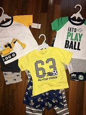 NWT Boys 18m 18 MONTHS CARTER'S 9 Piece Pajama Lot CUTE Sets 3 Sets