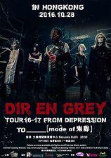 "DIR EN GREY ""TOUR 16-17 FROM DEPRESSION TO"" 2016 HONG KONG CONCERT POSTER- Metal"