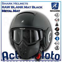 Casco Helmet Jet SHARK RAW Drak Nero opaco moto scooter