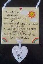 Personalised Special Daughter Granddaughter Brightens Day Christmas Gift Plaque