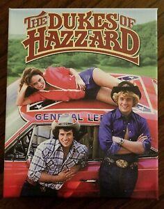"Canvas Print General Lee THE DUKES OF HAZZARD Season 1 DVD Art 8""x10"""