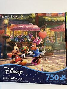 Thomas Kinkade Disney Puzzle - Lot Of 2 - Mickey & Minnie, ALICE IN WONDERLAND.