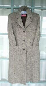 """Ladies CHARLES TYRWHITT """"Woman"""" Wool Tweed Coat SZ 12 Brown Pheasant eye Tweed"""