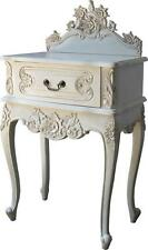 French Rococo Bedside Table With 1 Drawer Antique White Bs024p