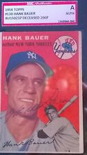 Hank Sauer Signed 1954 Topps Card #130 SGC Authentic Slabbed