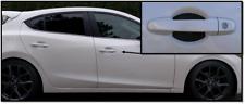 Carbon Fiber Car Door Handle Scratch Protector Guard Trim Fits Mazda 3 New 4pk