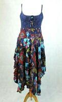Joe Browns Blue Floral Print Sleeveless Midi Dress Sz 12 uk rrp £50 CR099 CC 09