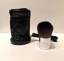 Dior MINI KABUKI BRUSH with Black Cannage Stitched Carrying Pouch *NEW*