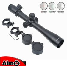 AIMO AIM 3.5-10x40E-SF Sniper Rifle Scope OTTICA NERA BLACK SOFTAIR AIRSOFT