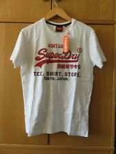 Superdry VL Fade T-Shirt Store T-Shirt - White + LOGO - Size 2XL - NEW + Tags