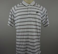 NIKE Men's XL Polo Shirt Fit Dry Spellout Embroidered Logo Swoosh VTG