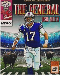Josh Allen Composite 8x10 photo Buffalo Bills Comic Style