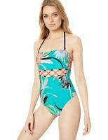 NWT Trina Turk Women's Bandeau One Piece Swimsuit, Jade//Shangri la Floral 10