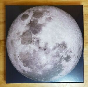 THE MOON Round Circular Jigsaw Puzzle 1000 Piece Genuine Four Point Puzzles NIP