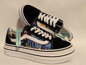 Vans New Super ComfyCush Old Skool Tropicali Black/True Lady Shoes Size USA 7