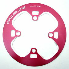 gobike88 Driveline 48T Chainring Guard, BCD 104, Silver Bolts, 126g, Red, AE7