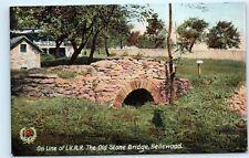 *On Line of L.V.R.R. Railroad Old Stone Bridge Bellewood NJ old Vintage B73