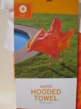New with tags - Hooded Beach Bath Towel ( Starfish ) 24 in x 52 in (100% cotton)