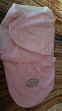 BLANKETS & BEYOND PINK & WHITE POLKA DOT SNUGGLE SAC BABY SOFT FLEECE NEST NEW