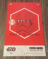 STAR WARS Power Of The Darkside NYCC EXCLUSIVE PROMO POSTER ART TOPPS LITHO