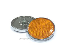 Pair Front Fork Cover Reflector for Suzuki GS1000G/L GS450 L/T GS550L 59mm Amber
