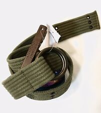 RALPH LAUREN DENIM & SUPPLY MENS O RING MILITARY STYLE BELT ARMY GREEN NWT65 SM