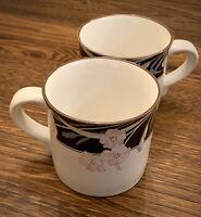 Savoir Vivre Night Passage Coffee Mugs Cups Set Of Two