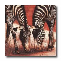 4 Motivservietten Servietten Napkins Tovaglioli Safari Zebras (018)