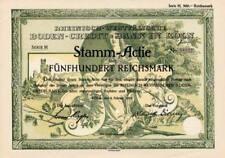 Rheinisch-Westfälische Boden-Credit Bank Köln hist. Aktie 1928 Rheinland Aareal