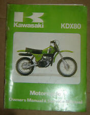 1981 Kawasaki KDX80 KDX 80 KDX80-A2 Owner's Manual & Service Manual OEM