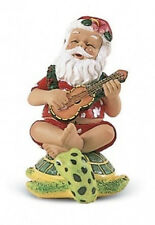 Hawaiian STRUMMING SANTA On HONU TURTLE CHRISTMAS ORNAMENT Hawaii New  Ukulele