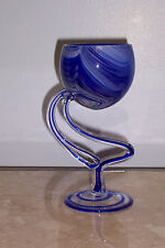 Gorgeous Cobalt Hand made and mouth blown in Poland Glass Vase.-Candle Holder