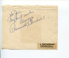 Savannah Churchill Jazz Pop Blues I Want To Be Loved Singer Signed Autograph