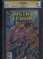 Justice League #2 CGC 8.5 3x SS Maguire & Giffen & DeMatteis 1987