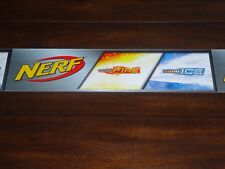 "Toys R Us STORE DISPLAY SIGN Valance NERF Sonic Fire & Ice 47 5/8""long 3""high"