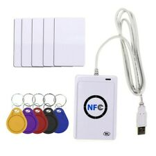 Acr 122u Nfc Smart Card reader W/ 5 Cards, 5 Keys, and Software Dvd