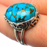 Blue Copper Turquoise 925 Sterling Silver Ring Size 8 Ana Co Jewelry R28765F