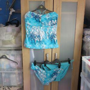 TU, Blue Mix Tankini 2 piece swimsuit set size 20