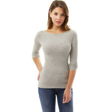 UK Womens Long Sleeve Jumper Pullover Blouse Ladies Casual Knitwear Sweater Tops