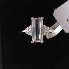 Certified 2.25ct Octagon Minas Gerais Brazilian Kunzite White  Gold Ring
