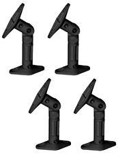 4 Pack Lot - Black Universal Wall or Ceiling Speaker Mounts Brackets fits BOSE