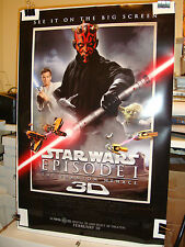 STAR WARS EPISODE 1 3D Phantom Menace Original Double Sided Movie Poster