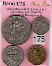 QE,11,4.Coins 1960, Half-Crown 2/6 to Threepence 3d (Item: 175P) (EF)