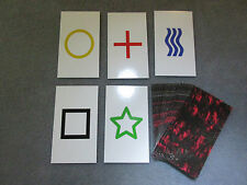1PK E03C Low Cost zener style ESP Testing Cards - not marked - not a magic trick
