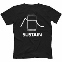 Sustain Synthesiser T-Shirt 100% Cotton Retro Synth Analog Synthesizer