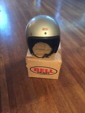 Vtg Motorcycle Helmet Bell Super Magnum Racing With Box Sz 7 1/2 5/8