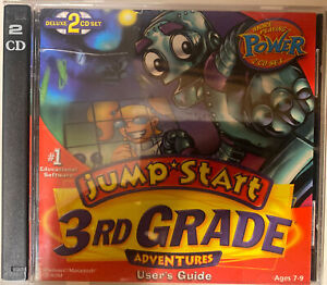 JumpStart 3rd Grade Deluxe PC MAC CD learn math reading science music game! 2CD