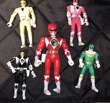 Vintage Original 1993 Bandai MMPR Power Rangers Action Figures Toys - Lot Of 5
