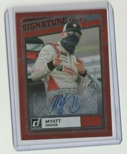 MYATT SNIDER 2021 DONRUSS RACING RED SIGNATURE SERIES AUTO # 3/99 HOT !!!