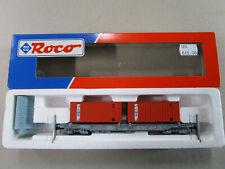 ROCO HO 46560 : wagon SNCB porte containers CMB, état neuf en boite.